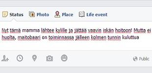 Raskauteni Facebookissa