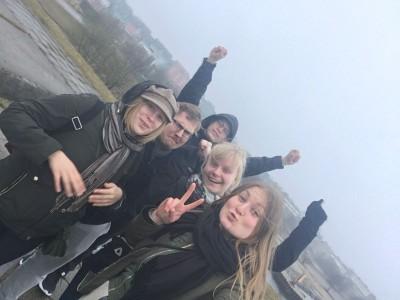 Retkikunta saavuttuaan Viroon.