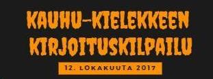 Kauhu-Kielekkeen kirjoituskilpailu 2017