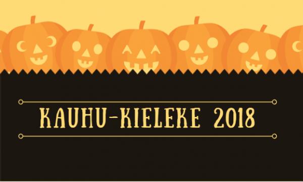 Kauhu-Kielekkeen kirjoituskilpailu 2018