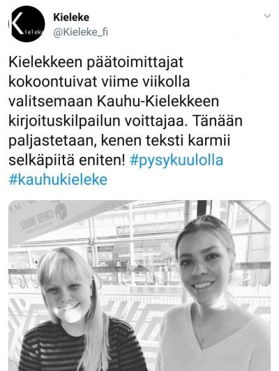 Myös Kieleke on Twitterissä!