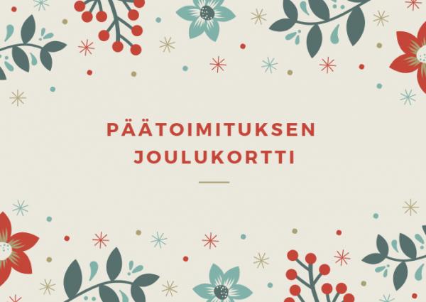Päätoimituksen joulukortti